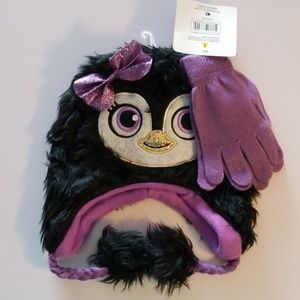 Other - girls sparkle penguin hat and glove set
